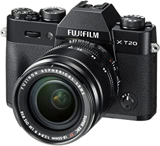 Fujifilm X-T20-24.3 MP Mirrorless Digital Camera with XF 18-55mm F2.8-4 R LM OIS Lens, Black