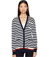 Sonia Rykiel - Graphic Stripes Cotton Cardigan