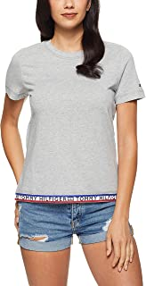 TOMMY HILFIGER Women's Repeat Logo Crew Neck T-Shirt