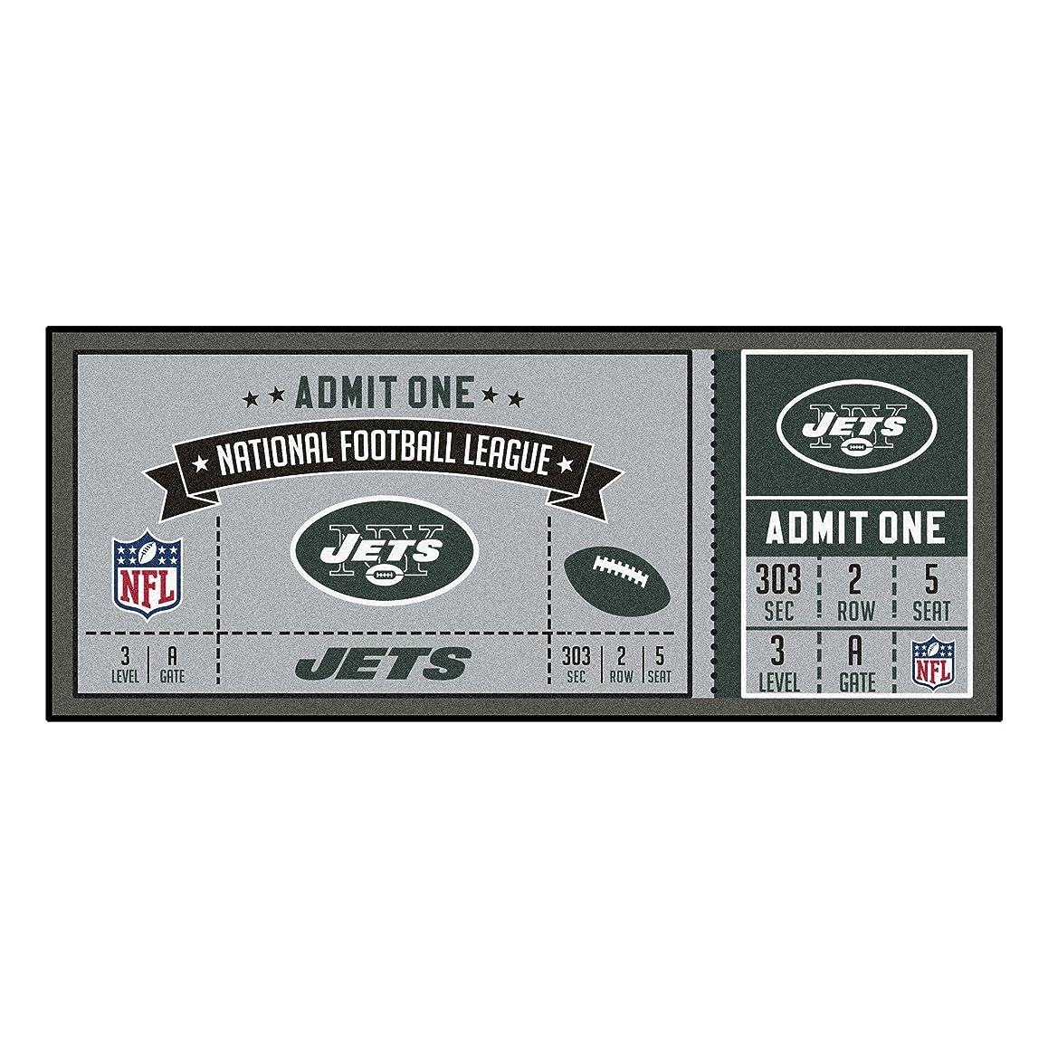ハムネット鯨Fanmats NFL新しいYork Jets nfl-new jetsticketランナー、チームカラー、1サイズ
