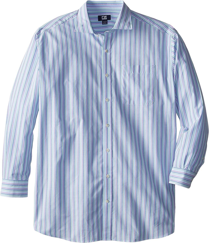 Cutter & Buck Men's Big-Tall Long Sleeve South Hampton Stripe Shirt