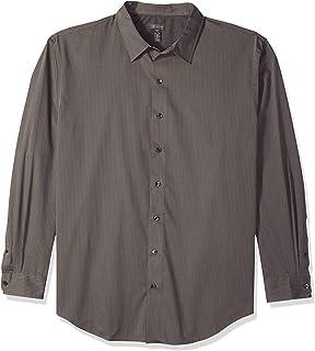 Van Heusen Men's Big and Tall Sateen Stripe Easy Care Long Sleeve Shirt