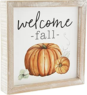 Collins Painting 'Welcome Fall' Pumpkin Framed Wood Box Sign