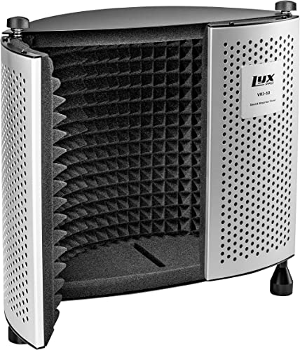 wholesale LyxPro Sound Absorbing Acoustic EVA Foam Isolation Portable Microphone Shield, Vocal Recording Panel, Four outlet sale Side outlet online sale Enclosed High Performance, Collapsible - Stand Mountable - VRI-50 outlet sale