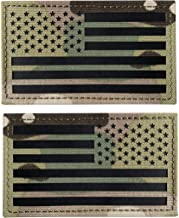 TIMTAC 3.5x2 inch IR Infrared Americam USA US Flag Patch Forward and Reversed (Multicam)