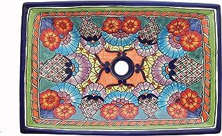 Mexican rectangular basin sink Ceramic Bathroom Vessel # 187