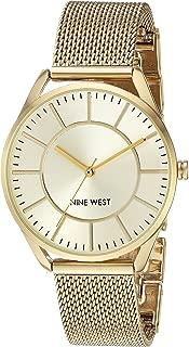 nine west goldtone pulsera de malla de reloj