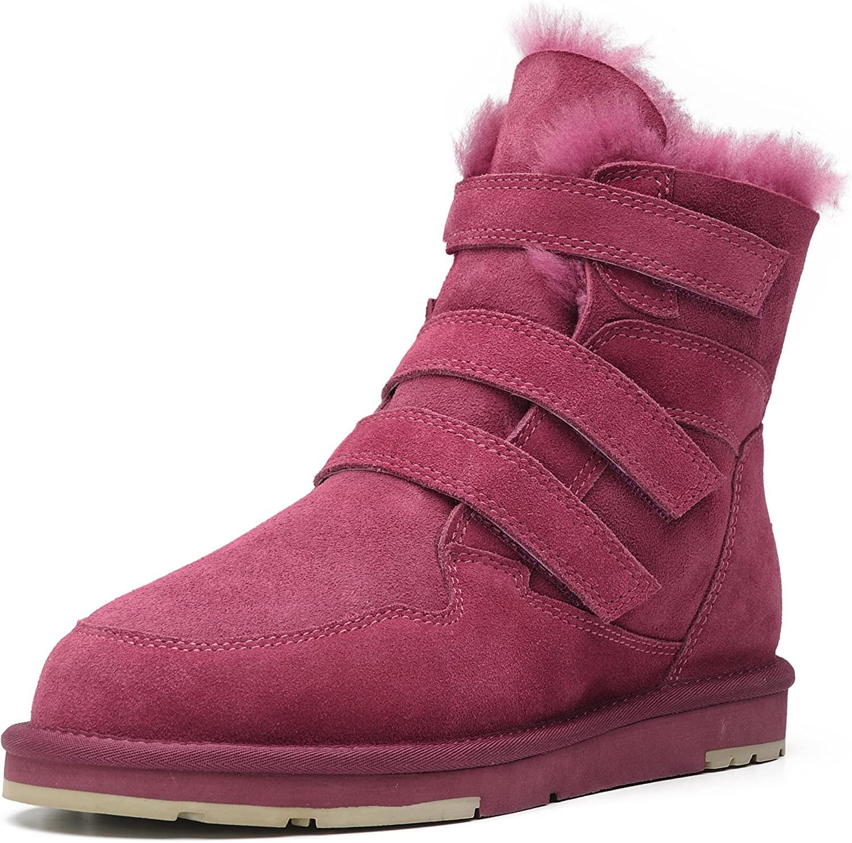 Aumu Women's Suede Sheepskin Winter Snow Boots