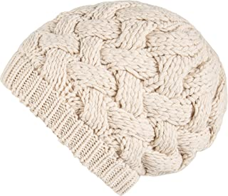 Lilax Cable Knit Slouchy Chunky Oversized Soft Warm Winter Beanie Hat