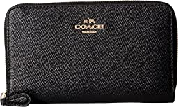 COACH - Crossgrain Leather Medium Zip Around Wallet