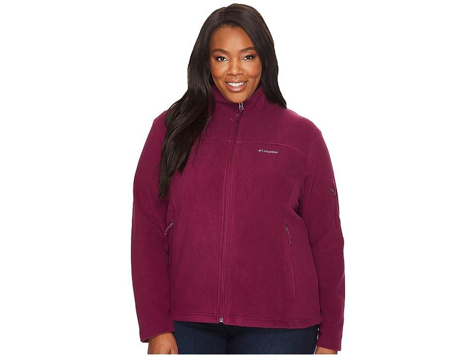 Columbia Plus Size Fast Trektm II Full Zip Fleece Jacket (Dark Raspberry) Women