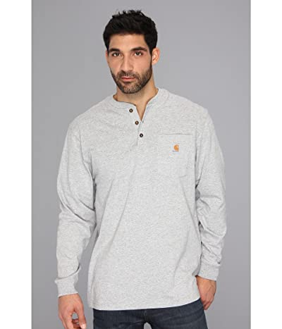 Carhartt Workwear Pocket L/S Henley (Heather Gray) Men