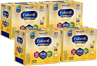 Enfamil NeuroPro Ready to Feed Baby Formula Milk, 2 Fluid Ounce Nursette (24 Count) - MFGM, Omega 3 DHA, Probiotics, Iron & Immune Support