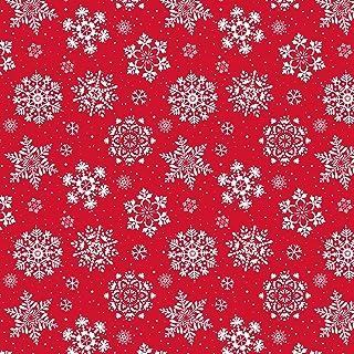 MAYPLUSS Wrapping Paper Sheet - FoldedFlat - Christmas Snowflake Design (25 sq. ft.TTL.) - 30 inch X 120 inch Per Sheet