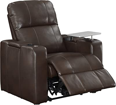 """Right2Home 1985-178-125 Power Home Theatre Recliner 38.0"""" L X 39.5"""" W X 43.0"""" H Chocolate Brown (1985-178-007)"""