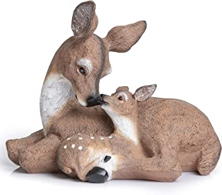 Deer Statue Yard Garden Decorations | Adorable Doe & Fawn Look Great in Any Outdoor Living Space | Animal Figurines Great ...