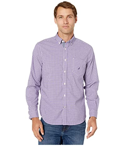 Nautica Casual Gingham Woven (Purple) Men