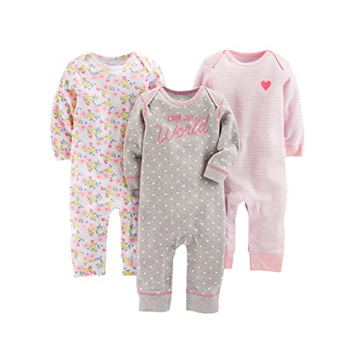 Simple Joys by Carter s Baby Girls  3-Pack Jumpsuits 314f0ac3f