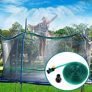 comprar comparacion Toyssa Aspersor Trampolín Set, 12M Cama Elástica de Jardín Water Park Play Sprinklers Pipe, Verano Aspersor de Trampolín a...