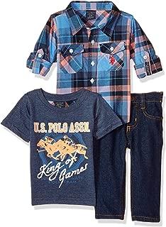Baby Boy's Long Sleeve Shirt, T-Shirt and Pant Set Pants