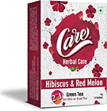 Care 2 in 1 Hot or Iced Hibiscus & Red Melon Green Tea | Delicious & Refreshing Drink with Health Benefits | Lowers Choles...