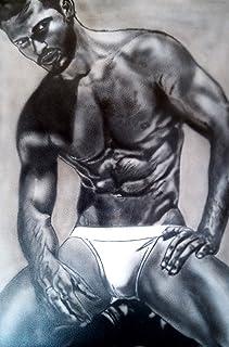 Naked men, front man, erotic,acrylic painting, fetish, gay art, gay, nude, erotic, 50x75cm, canvas, weird, kink, xxx, sex,...
