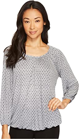 MICHAEL Michael Kors - Net Scoop Neck Peasant Top