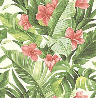NuWallpaper NU2926 Tropical Paradise Peel & Stick Wallpaper, Multi-Color