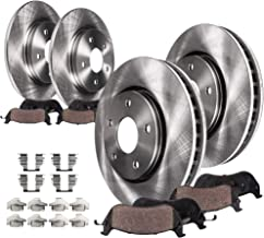 Detroit Axle - 4x4 Front and Rear Disc Brake Kit Rotors w/Ceramic Pads w/Hardware for 2000 2001 2002 2003 Ford F-150 4WD 5 Lugs