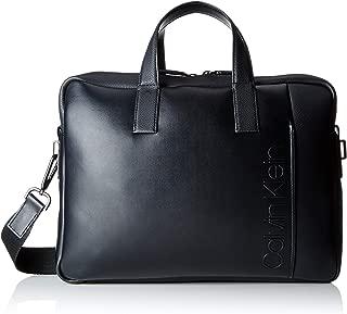 Calvin Klein Jeans Herren Elevated Logo Slim Laptop Bag Tasche, Schwarz (Black), 7x28x38 cm