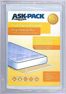 Bolsa de Colchón King Premium para un Colchón hasta 200cm de ancho / 30cm grosor / y hasta 220cm largo - CON CIERRE ADHESIVO reutilizable - Ultra fuerte 120µ - EXTRA largo 260 cm