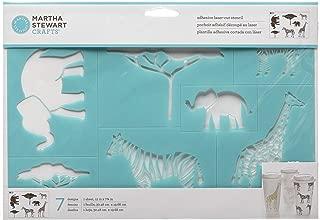 Martha Stewart Crafts Safari Style Laser-Cut Stencil - 12 x 7.75 Inches