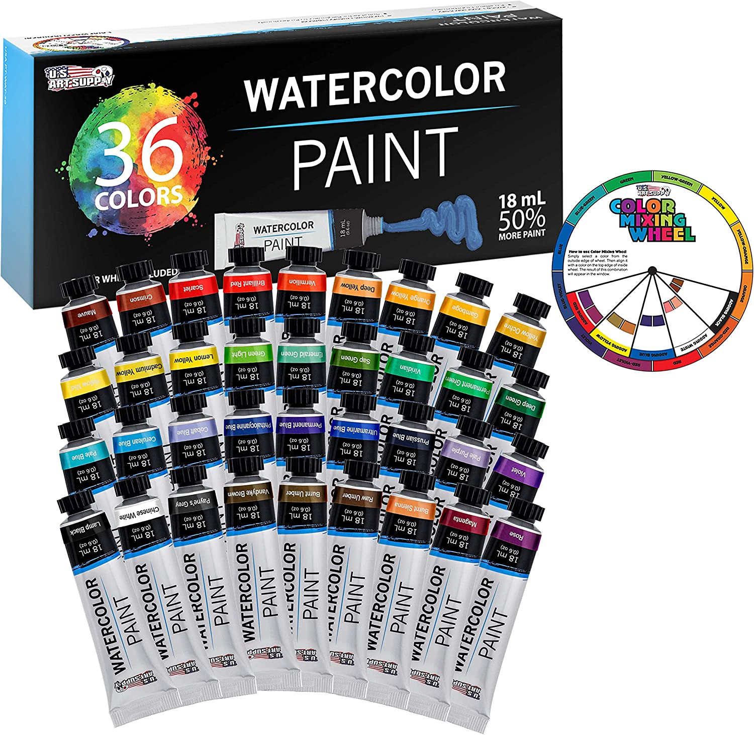 U.S. Art online shopping Supply Sale item Professional 36 Color in Set Paint Watercolor of