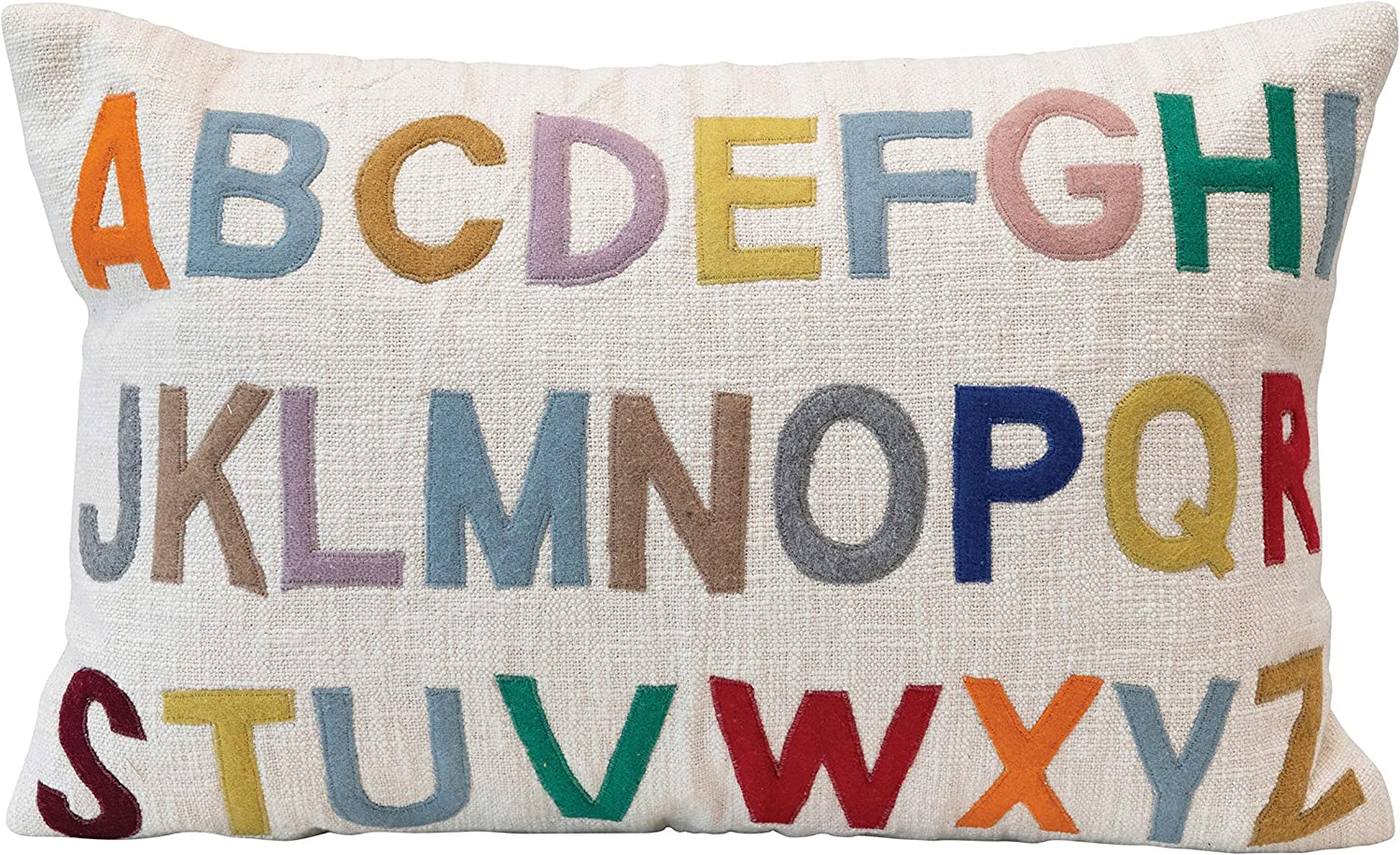 Creative Quality inspection Co-Op Cotton Lumbar Embroidered Color P Alphabet Multi discount