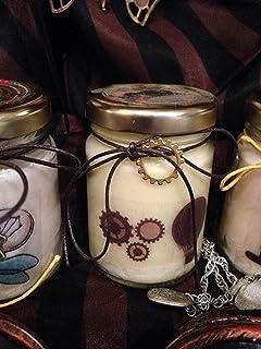 Steampunk 2 vasetti con candele di cera di soia e oli essenziali - Vintage - Victorian Age - Idea Regalo Regalo di Natale