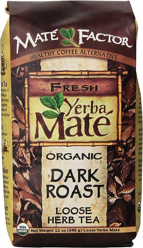 The Mate Factor Yerba Mate Energizing Mate Grain Beverage Dark Roast 12 Ounce