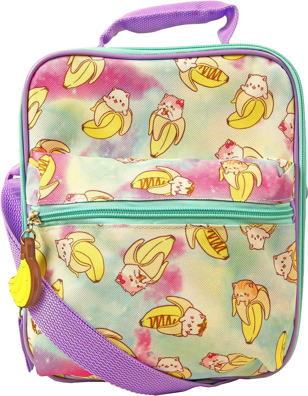 Bananya Lunch Box for Girls with Adjustable OFFicial mail order Regular dealer Shoulder Dual Strap