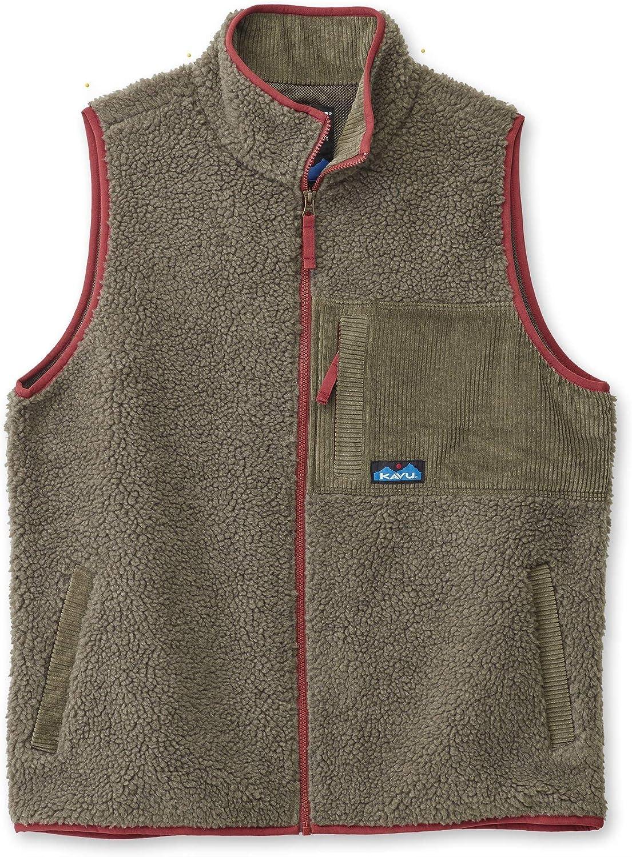 KAVU Cooper Mens Fleece Insulated Full Zip Vest