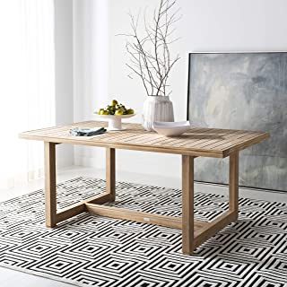 Safavieh CPT1005A Home Collection Montford Teak Couture Dining Table, Natural