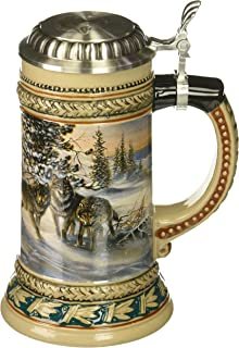 M. CORNELL IMPORTERS 5914 Wolf Wildlife German Beer Stein