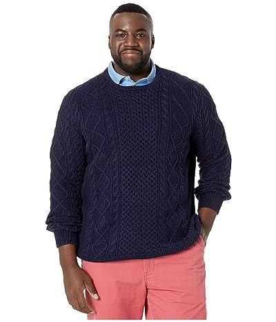 Polo Ralph Lauren Big & Tall Cable Knit Sweater (Hunter Navy) Men