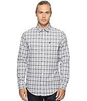 Original Penguin - Long Sleeve Jaspe Plaid Oxford Woven Shirt