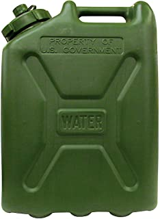 Skilcraft Plastic Water Can, 5 gal, OD Green