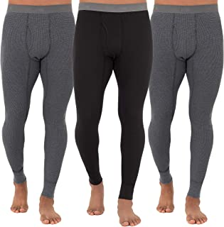 Fruit of the Loom Men's Recycled Waffle Thermal Underwear Bottom (1, 2, 3, and 4 Packs)