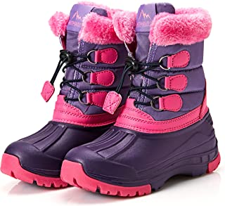 Weestep Toddler Kids Waterproof Snow Winter Boots for Girls and Boys
