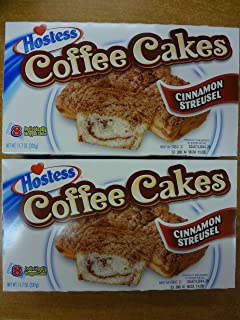 Hostess Coffee Cakes Cinnamon Streusel 2 Boxes 16 Cakes