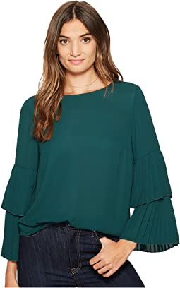1.STATE - Long Sleeve Pleated Sleeve Blouse