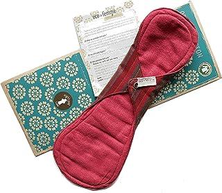 夜用 南インド「Eco Femme」布ナプキン 洗えるオーガニックコットン(肌面色付き)防水あり・内側に7層のフランネル使用 Night Pad - Vibrant Organic Cloth Sanitary Pads Menstrual Pads
