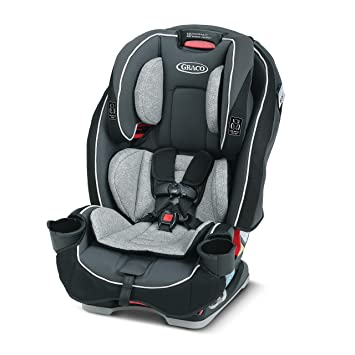 Graco SlimFit 3 in 1 Car Seat -Slim & Comfy Design Saves Space in Your Back Seat, Darcie, One Size: image