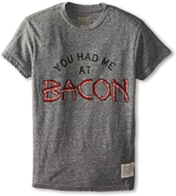 The Original Retro Brand Kids - You Had Me At Bacon Short Sleeve Tee (Big Kids)